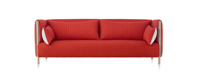 Canapé-rouge-design-herman-miller