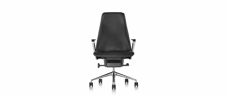 Chaise-bureau-en-cuire-noir-herman-miller