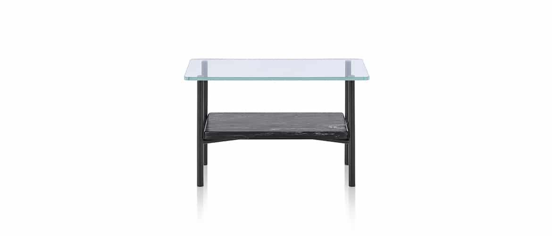 petite table avec plateau en verre Herman Miller