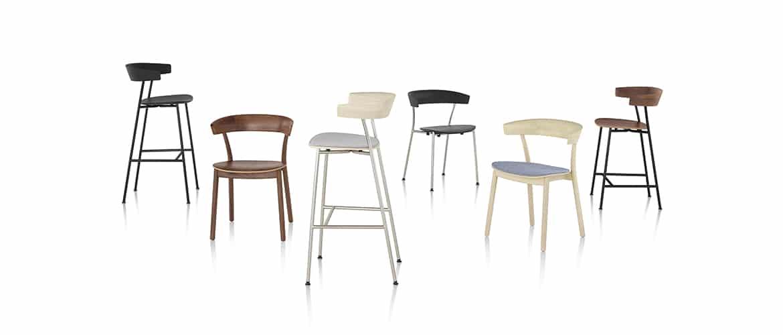 ensemble-de-chaises-en-bois-herman-miller-leeway