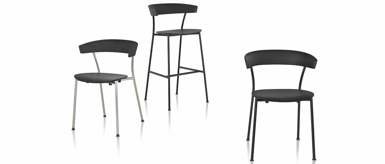 ensemble-de-chaises-noirs-herman-miller-leeway