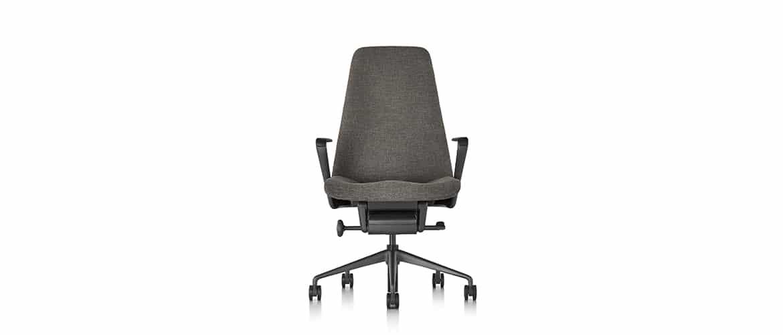 Chaise-bureau-en-tissu-brune-herman-miller